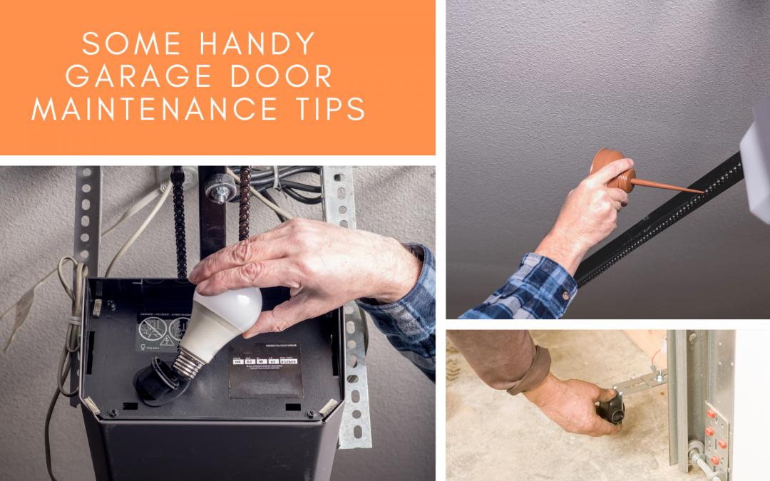 Some Handy Garage Door Maintenance Tips!